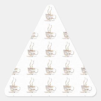 Coffee Cup Triangle Sticker