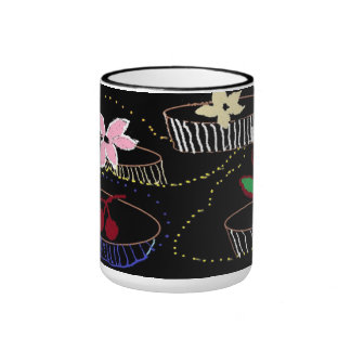 Coffee cup.  White trim in black Ringer Coffee Mug