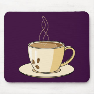 Coffee cup with a steam mouse pad