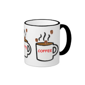 Coffee Cup with Beans Design Mug