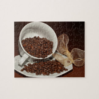 Coffee Cup with Beans Jigsaw Puzzle