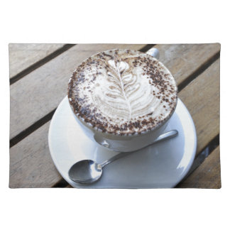 Coffee cup with cream place mat