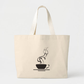 Coffee Cup with Steam Canvas Bag