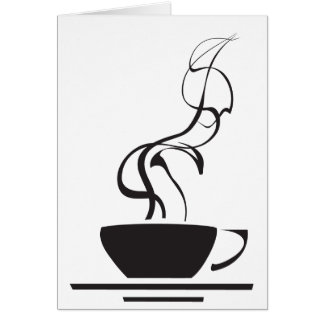 Coffee Cup with Steam Card