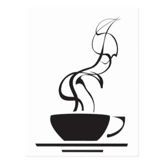 Coffee Cup with Steam Postcard