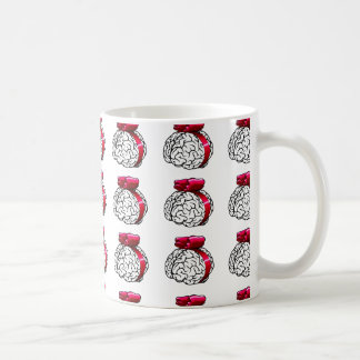 Coffee Cup with Wordiness Brain Pattern