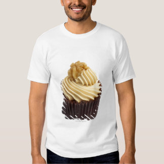 Coffee cupcake topped with coffee cream and a T-Shirt