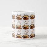Coffee Cups Background Extra Large Mug