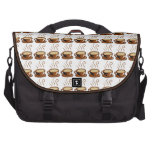 Coffee Cups Background Laptop Messenger Bag