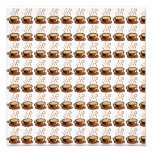 Coffee Cups Background Photo Print