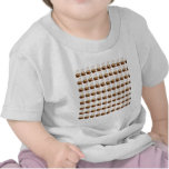 Coffee Cups Background T-shirts