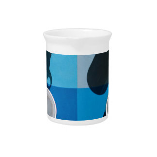 Coffee Cups in Blue Drink Pitcher