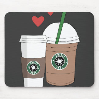 Coffee cups in love! mouse pad