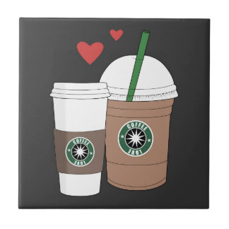 Coffee cups in love! tile