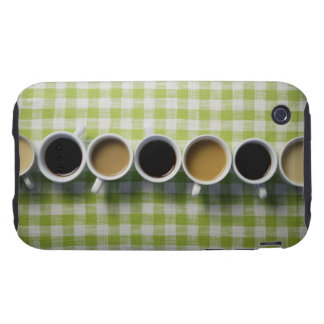 Coffee cups iPhone 3 tough cover