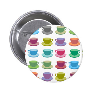 Coffee Cups Pinback Button