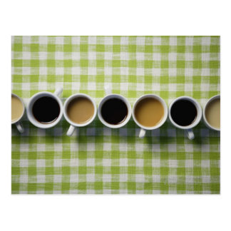 Coffee cups postcard