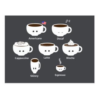 Coffee cups postcard
