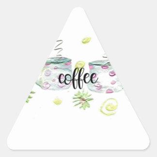 Coffee Cups Triangle Sticker