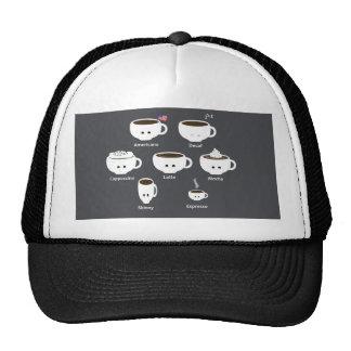 Coffee cups trucker hat