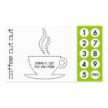 coffee cut out punch cards business cards