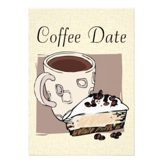 Coffee Date Custom Invitation