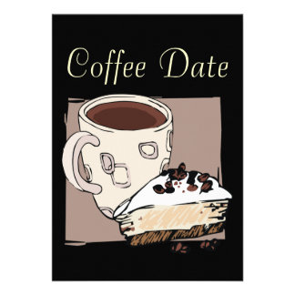 Coffee Date Personalized Invitations