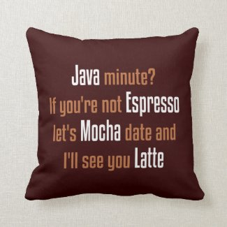 Coffee Date Throw Pillows