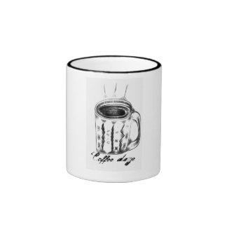 Coffee Daze Ringer Coffee Mug