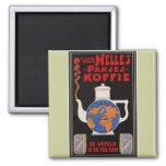 Coffee de Van Nelle - publicidad del vintage Iman De Frigorífico