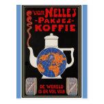 Coffee de Van Nelle - publicidad del vintage Postales