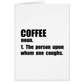 Coffee Definition Card
