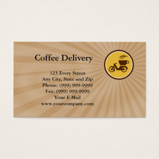 Coffee Delivery Business card