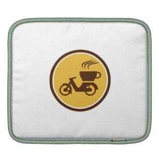 Coffee Delivery Motorcycle Circle Retro iPad Sleeve