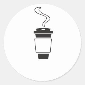 coffee Design Classic Round Sticker