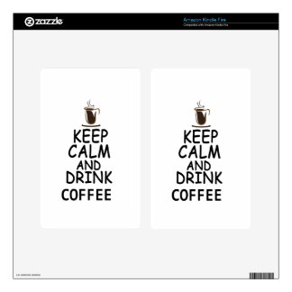 coffee design decal for kindle fire