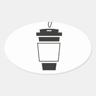 coffee Design Oval Sticker