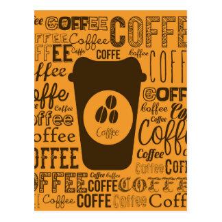 coffee design postcard