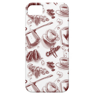 coffee design tiled pattern iPhone SE/5/5s case
