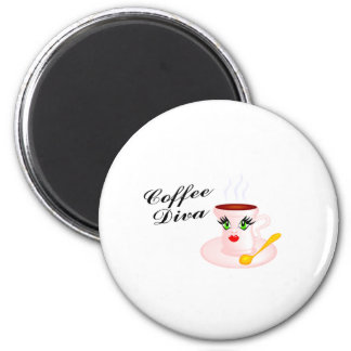 Coffee Diva 2 Inch Round Magnet