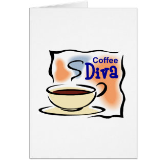 Coffee Diva Greeting Cards