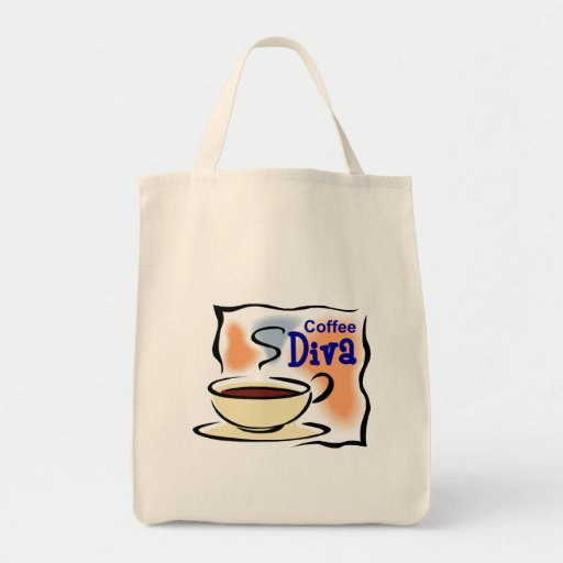 Coffee Diva Grocery Tote Bag