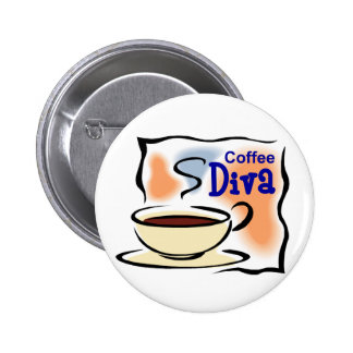 Coffee Diva Pinback Buttons