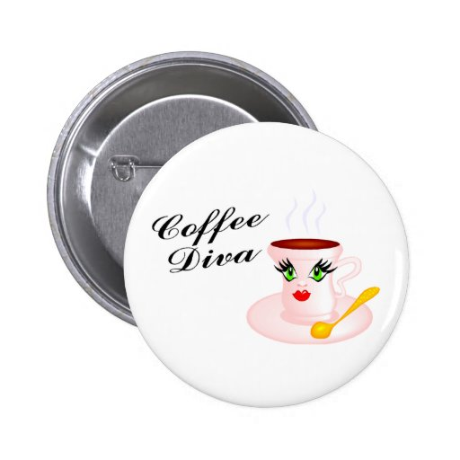 Coffee Diva Pins