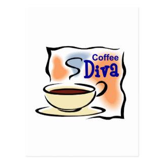 Coffee Diva Postcard
