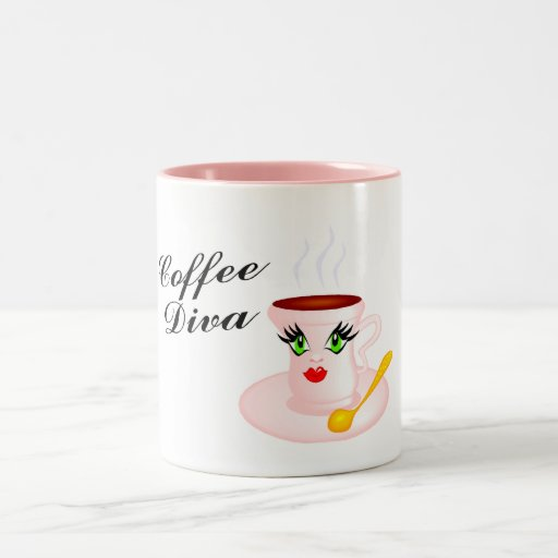 Coffee Diva Two-Tone Coffee Mug