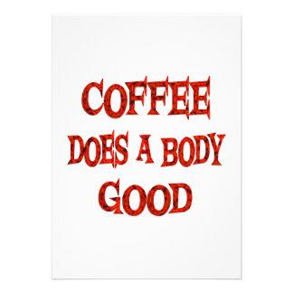 Coffee Does Good Custom Announcement