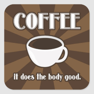 Coffee Does The Body Good II Sticker