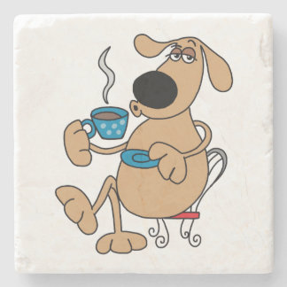 Coffee Dog Marble Stone Coaster