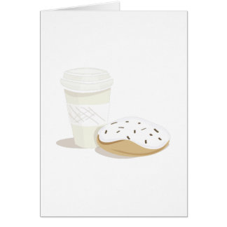 Coffee & Donut Greeting Cards